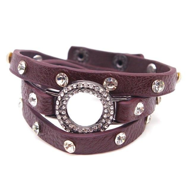 New European Beads Fashionable Charm Women's Leather Bracelet