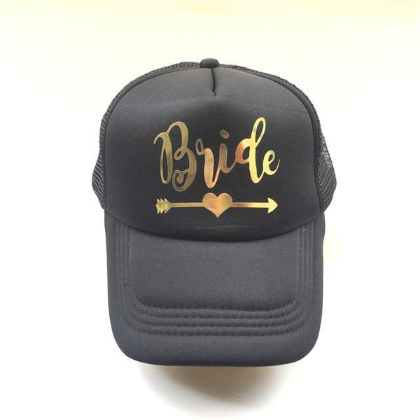 New SQUAD BRIDE TEAM BRIDE Trucker Hats Baseball Caps For Wedding Party 9 Color Mesh Hats Summer Style