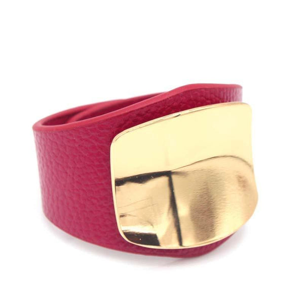New Leather Bracelet With Alloy Buckle Adjustable Fashion For Women