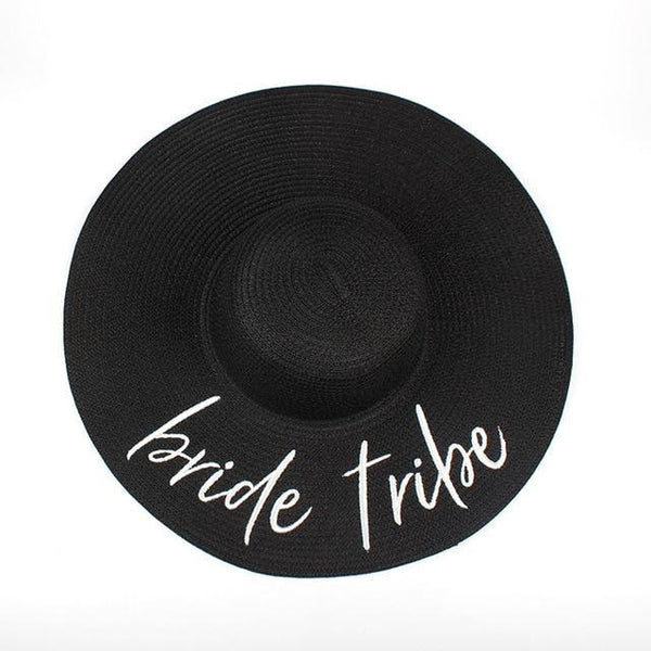 New BRIDE tribe floppy Summer beach Sun Hats Honeymoon bridesmaid maid of honor party cap hats