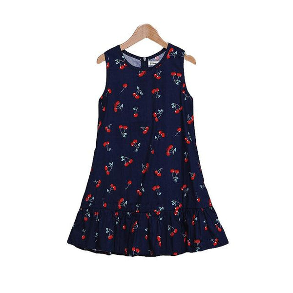 Casual Summer Girls Dresses for Kid Floral Parting Princess Dress for Party Beach dress Children Clothing