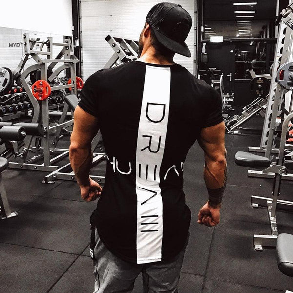 2019 New Men Skinny T-shirt Gyms Fitness Bodybuilding Crossfit t shirt Male Print Tee Tops Summer Fashion Casual Brand Clothing