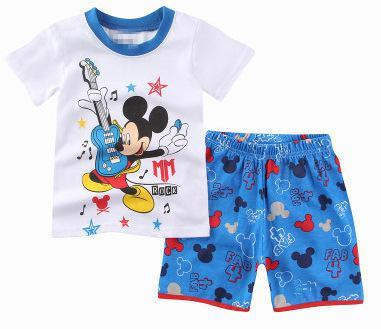2019 Summer Baby Boys Girls Sets Children Fashion Mickey Mouse Cartoon T-shirt + Shorts Clothes Infantis Kids Pajama Outfits