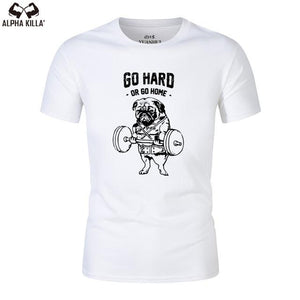 2019 gym shirt men New short sleeve t-shirt fashion casual shirt men t shirt Slim Fit t-shirt men Skinny casual summer tshirt