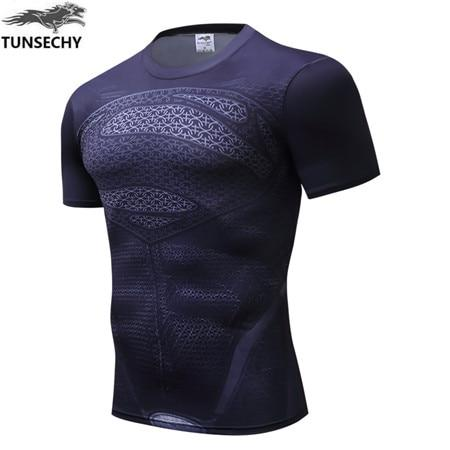 2019 marvel captain America 2  superman superhero T-shirt, men's gym suit, short-sleeved xs-4xl