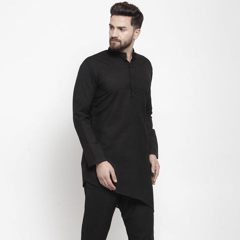 black kurta for men