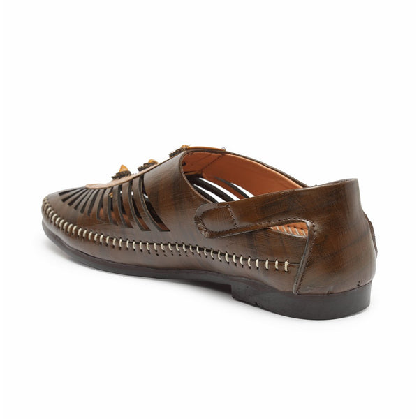 Treemoda Brown Ethnic Nagra for Men/Boys