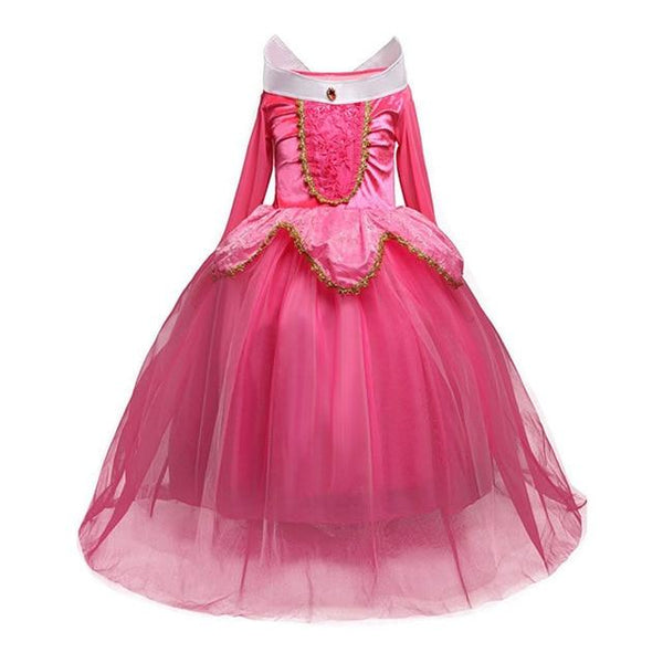 5 6 7 8 9 10 Years Girls Dress Halloween Sleeping Beauty Princess Dresses Christmas Costume Party Children Kids Clothing