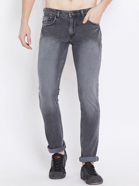 Men Grey Slim Fit Mid-Rise Clean Look Stretchable Jeans