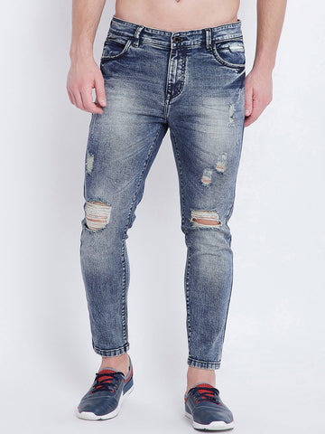 distressed stretchable jeans