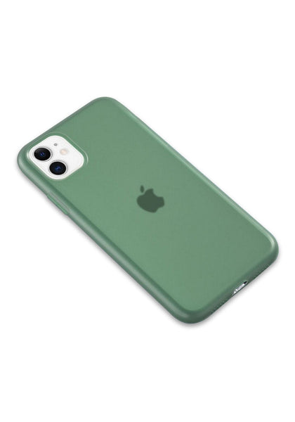 iPhone 11 Silicone Green Semi Transparent Case For iPhone 11 / 11 Pro / 11 Pro Max