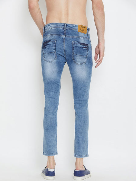 Men Blue Slim Fit Mid-Rise stretchable Jeans