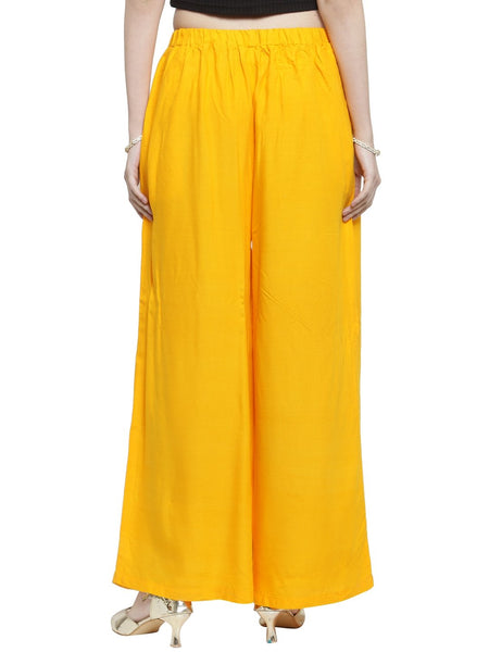Women's Ethnic Styles Straight line Plazzo For every occasion By Treemoda