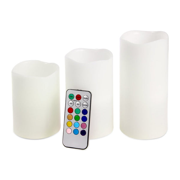 Luma Candles Real Wax Flameless Candles 3 Led Candles Plus Remote Control Timer