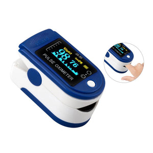 Fingertip Pulse Oximeter Blood Oxygen Saturation and Heart Rate Monitor