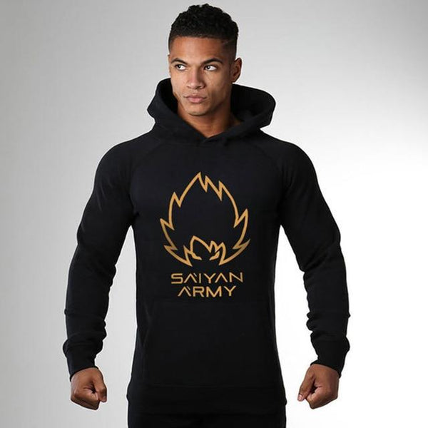 Mens Cotton Hoodie Sweatshirts Male Gyms Fitness Jacket Pullover Casual Fashion Slim Sportswear Tops Jogger Clothing