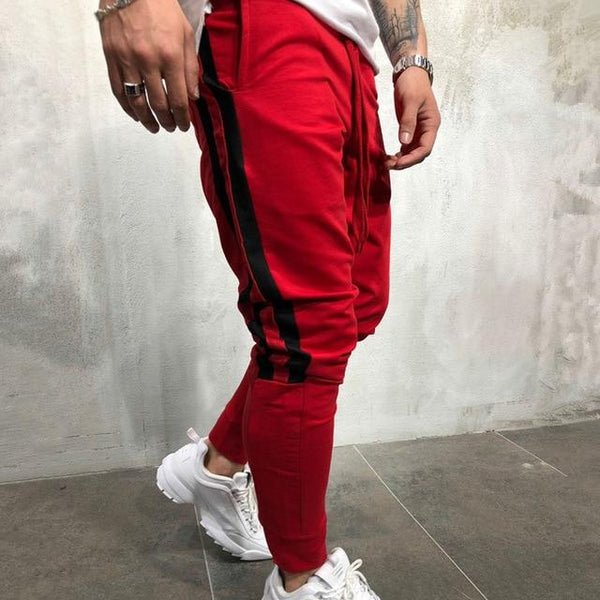 New Mens Cotton Sweatpants Men Gyms Fitness Trousers Male Sportswear Casual Fashion Joggers Workout Pants Bottoms