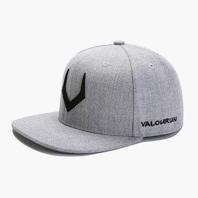 High Quality Gray Wool Snapback 3D Pierced Embroidery Hip Hop Cap Flat Bill Baseball Cap for Adult