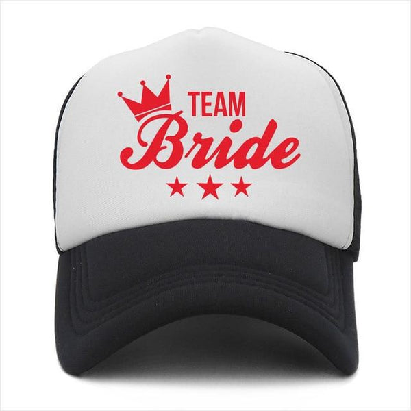 BRIDE TO BE TEAM BRIDE Women Cap Female Wedding Preparewear Baseball Caps Fashion Summer Breathable Mesh Truck Hats