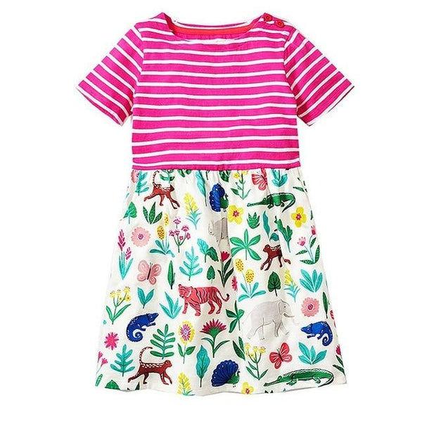 Baby Girls Summer Dress Animal Pattern Kids Dresses Children Clothing Princess Unicorn Costume for Girls Clothes