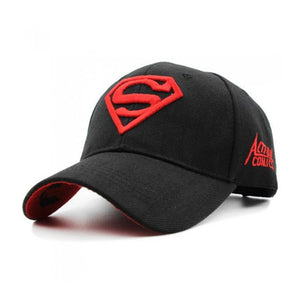 Black Superman Embroidered Baseball cap