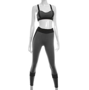 Women Sexy Backless Sportswear Fitness Woman Running Elasticity Patchwork Quick Dry Training Black Yoga Sets