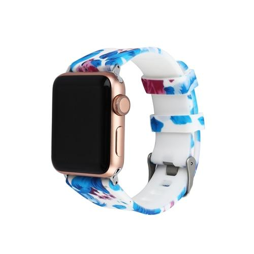 New Silicone Sport strap For Apple Watch band 42mm 38mm correa Iwatch series 4/3/2/1 44mm/40mm wrist bracelet watchband belt