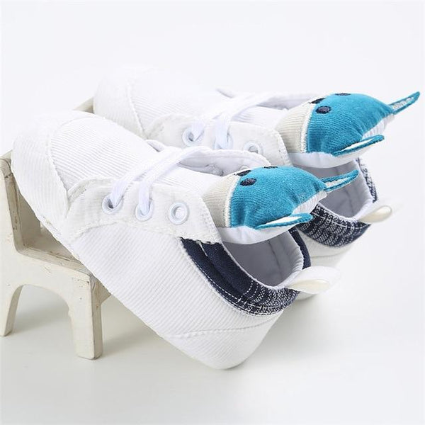 Cartoon Blue Baby Sport Sneakers Branded Blue Boy Boots Newborn Chaussure Girls Casual Booties Soft Sole Kids Shoes