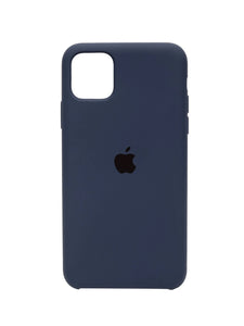 iPhone 11 Silicone Navy Blue iPhone Case By Treemoda