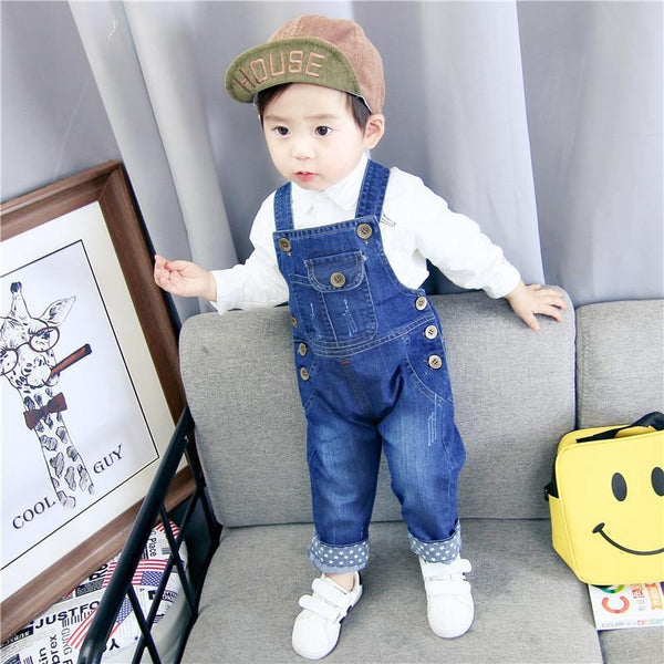 Children's Denim Overalls Baby Jeans Pants Baby Boys Girls Trousers Infant Clothing Toddler Babies Pants Little Kids 1-3 Years
