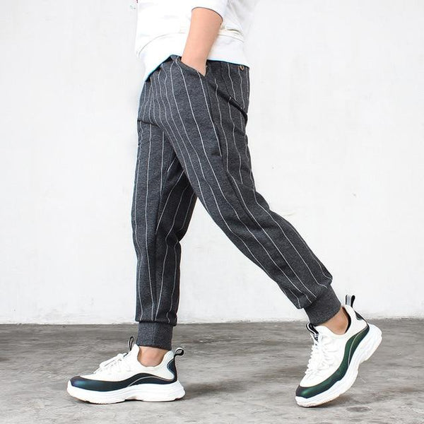 Children's Pants 2018 Autumn New Boys Striped Casual Pants Girls 100% Cotton Knitting Jeans