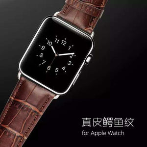 Crocodile Genuine Leather band For Apple Watch iWatch Strap Series 4/3/2/1 Sport Edition 38MM 42MM 40mm 44mm
