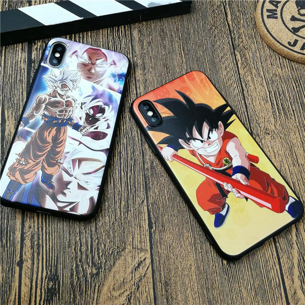 Dragon Ball case For iPhone X XS MAX XR 10 8 7 6 6S Plus 5 5S SE Soft Matte Silicone Emboss Phone Cover