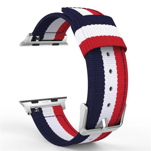 Woven Nylon Loop Band, Adjustable Closure Wrist Strap Compatible with Apple Watch [38mm/40mm]