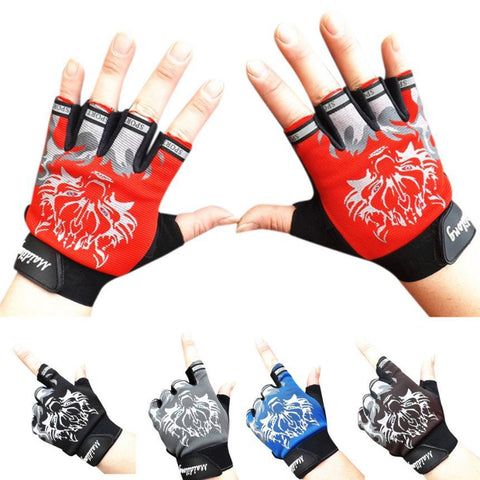 Gym Fitness Sports Weight Lifting Gym Training Sports Gloves Breathable Wolf Head Gloves