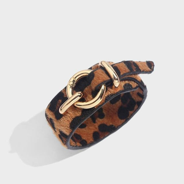 Leopard Leather  Bangle Bracelets For Women
