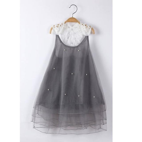 Girls Dresses for Party and Wedding Mesh Beaded Christmas Princess Dress Kids Dresses for Girls
