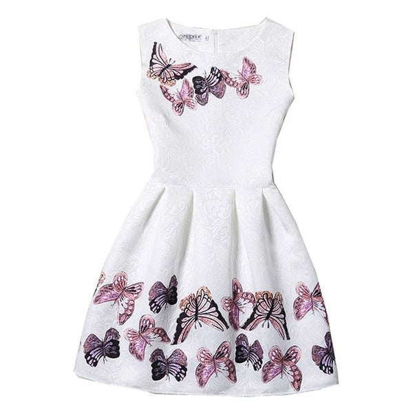 Girls Floral Flower Dresses for Girls Kids Sundress Children Clothes Teenager Sleeveless Princess Dress Girl Clothing