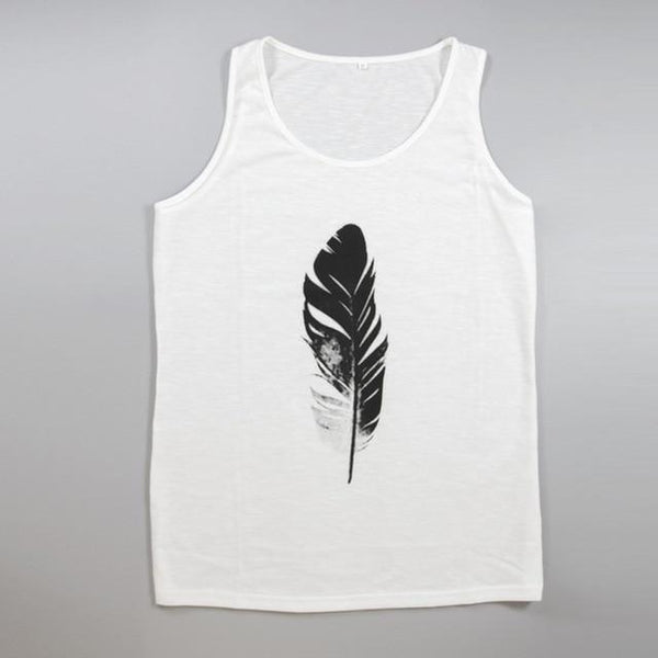 Gym Men Muscle Sleeveless O-neck Tee Tank Top Bodybuilding Sport Fitness Feather Printing Seamless Underwear Vest neon top