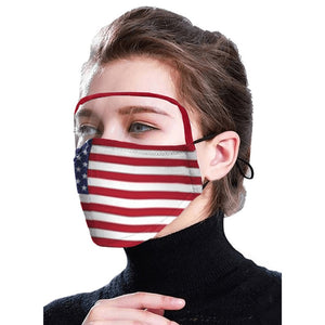 Protectors PM2.5 Outdoor Flag print face mask With 2PC Filters American Unisex Face Protection Gaskets Prevent Masker 42