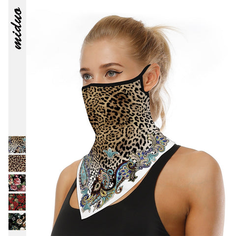 Leopard Print Triangle Hangers Mask Unis