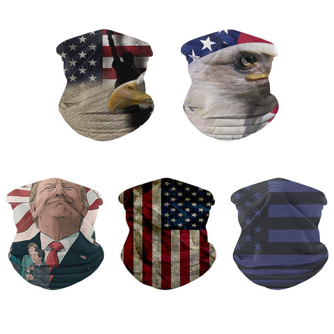 Quick Dry Women Men Trump Flag Digital Printed Multi Face Maskas Functional Seamless Sacrf Hairband Cycling Neck Scarf