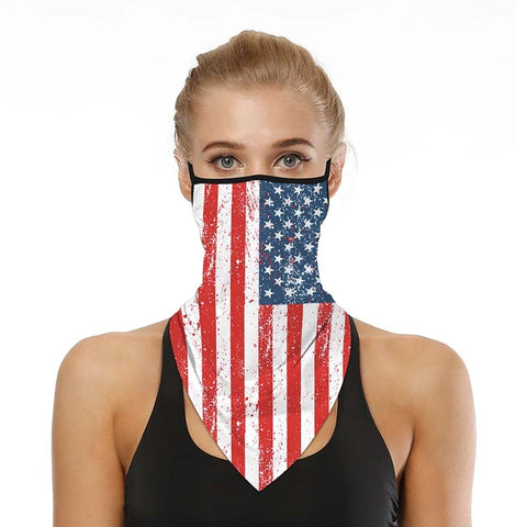 Sunscreen Mask Riding 2020 Fashion Flag Printed Triangle Anti-insect Windproof face Masks for Cycling