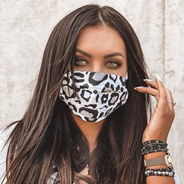 Fashion Leopard Print Face Mask