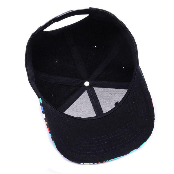 Embroidery Retro baseball caps for men women bone black sports hats street art hip hop cap