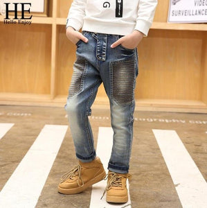 Boy Jeans Children's Pants Jeans For Boy Teenagers Kids Clothes Stripe Denim Trousers 3-15 Years Spring 2019