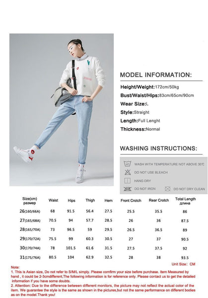 Jeans Women 2019 Summer Autumn High Waist Jean Casual Skinny Jeans Female Pencil Denim Pants