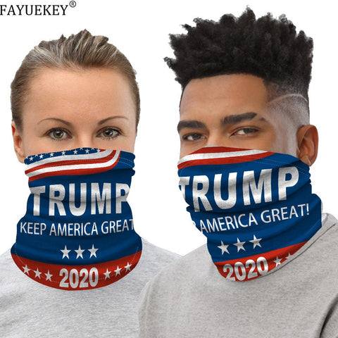 Trump 2020 Flags Ice Silk Fabric Cycling Bike Bicycle Riding Scarf Variety Face Mask