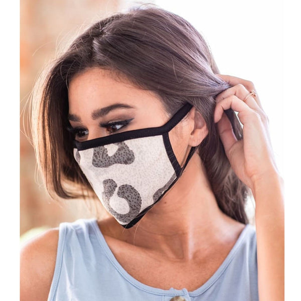 Printed Cotton Face Mask for Women