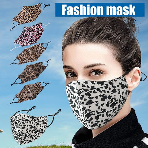 Cotton Scarf Leopard Printed Mask Unisex